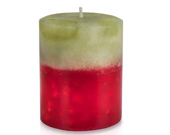 Bayberry Christmas Wreath Scented Holiday Pillar Candle