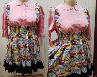 SALE- Plus Size Disney Princes Dress -  Lolita Jumper Snowwhite Cinderella Cosplay JSK- LARGE Ready to ship