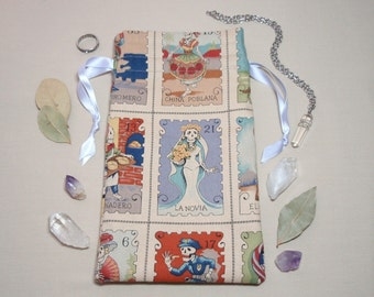 The Bride and the Warrior - Lined Drawstring Tarot Card Deck Pouch