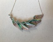Petal Collection: Mermaid Metallic Leather Petal Necklace