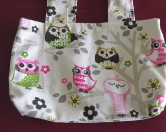 Owl Tote / Owl Bag / Reversible Bag / Owl Shoulder Bag / Free US Shopping / Bootsandbelle