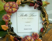 Bela Lux Fine Frame Enamel and Genuine Crystals in Box Tropical Flowers Bees Graduation Wedding