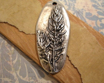Denali Pendant in Antique Silver from Nunn Design