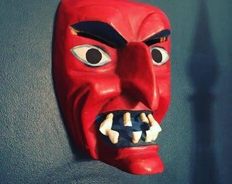 Mexican Diablo Decorative Wooden Mask
