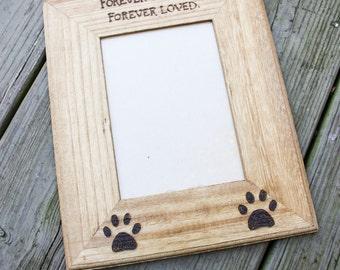Tree Trunk -Custom Pet memorial photo frame-photo frame for dogs - pet remembrance photo frame
