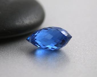 London Blue Topaz Bead - Drop Briolette - London Blue Topaz - 16mm