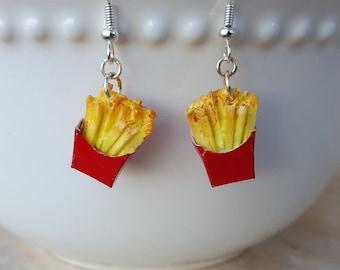 French Fry Earrings - Food Jewelry