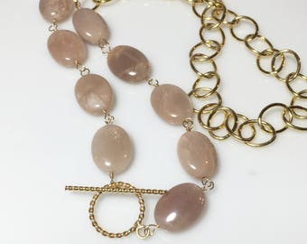 25% OFF Sunstone Gold Statement Necklace