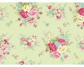 Custom Listing for ThePMB: Rosey by Tanya Whelan - Little Bouquet TW064 Green, 4 5/6 yards