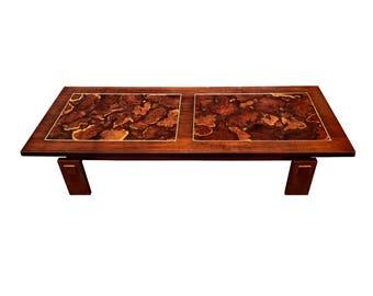 Mid Century Burl Wood Coffee Table by Lane