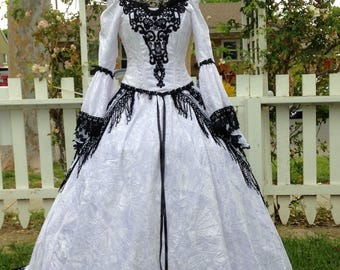 Gothic Fairy Medieval or Renaissance Style Fantasy Set with Overskirts Custom