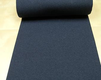 Rib knit fabric • plain uni • indigo heather • 0.54yd (0.5m) 002972
