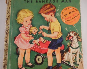 Little Golden Book DR. Dan the Bandage Man 1950 First Printing A