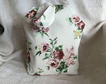 Grommet Bag, Knot Bag, Dumpling Wristlet-Rosebuds