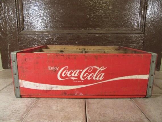 Wonderful Solid Wood Red Vintage Coca Cola By