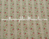 Sweet Little Floral Stripe - Vintage Fabric New Old Stock Doll Clothes