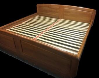 SOLD  Mid Century Modern Teak Platform King Size Bed - Danish Modern Bed Floating Bedframe - Danish Teak King Size Bed