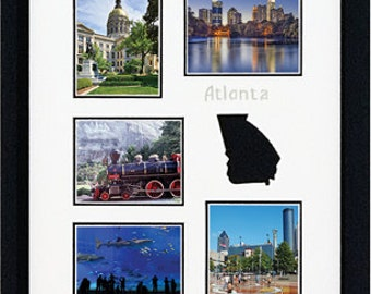 ATLANTA Custom Photo Collage  Doublemat (mat only) in 11 x14