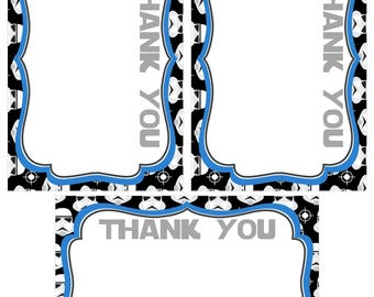 STAR Wars Thank You Cards matching 4x6in., Printable INSTANT DOWNLOAD