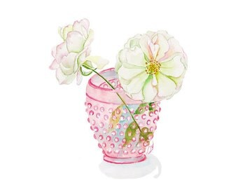 Pink Rose Watercolor Print, Floral Print, Rose Art, Pink Rose Print, Rose Wall Art, Rose Gallery Wall, Rose Painting, Iceburg Rose,