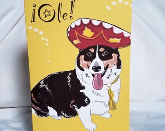 Fiesta Corgi Greeting Card