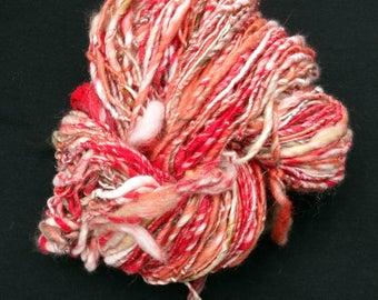 Rose Bush Handspun Art Yarn 145 yds