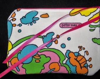 Peter Max Coin Purse Make up Zipper Pouch