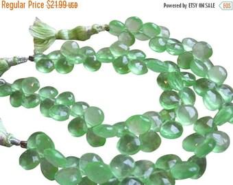 SALE Green Quartz Beads Briolettes Stones, Lime Green Quartz, Faceted Briolettes, 9mm to 10mm, Green Gemstone, Loveofjewelry, Weddings, SKU