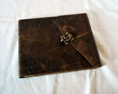 Etched Leather Guestbook- Wedding, Shower, Guesthouse, Retirement Party