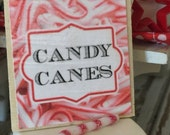 Sale Candy Canr and Candy Cane Sign- Dollhouse Miniature