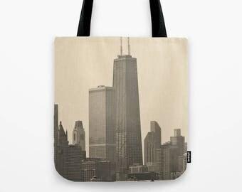 Standing Tall John Hancock Building Chicago Photo Tote Bag