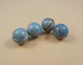 Beautiful 16MM, Round , Glass Beads