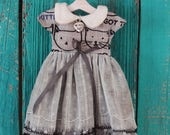 Blythe doll OOAK outfit *Are you kitten me?* vintage style dress