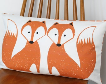 Foxy Motif Fox cushion cover pillow sham throw