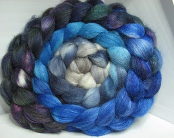 Sale BFL/Tussah 75/25 Roving Combed Top - 5oz - Heron 2