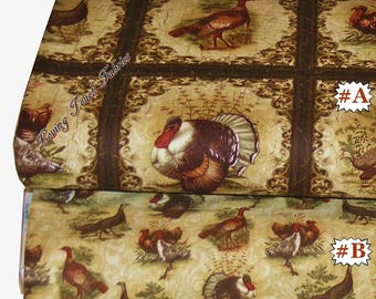 "Benartex Bristol Bay Studio ""Turkey Run"" Thanksgiving Fabric Collection"