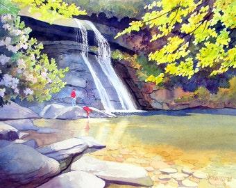 Playing at Silver Run Falls