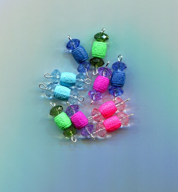 crystal drops charms barrel bead pendants acrylic plastic beads 10 piece jewelry beading stitch markers supplies lot