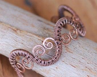 Artisan Woven Wave Copper Cuff