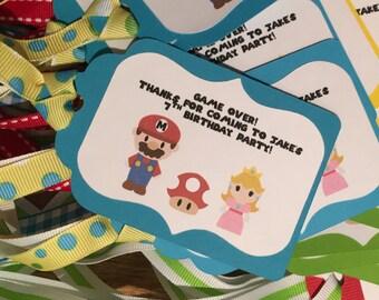 12 Mario Bros Favor Tags