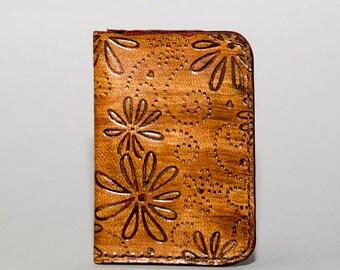 NEW!!! Ladies Textured Minimalist Leather Wallet - Brown