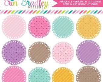 50% OFF SALE Digital Scrapbooking Clipart Clip Art Party Circles Personal and Commercial Use