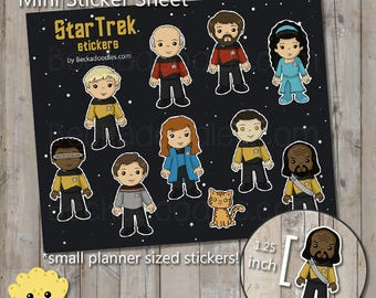 Star Trek The Next Generation Characters Mini Sticker Sheet