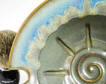 Ceramic Shave Dish - 40% Off - Large Wetshaving Ceramic Bowl - Shaving Dish - Wet Shaving Pottery - Wet Shave Ceramic - In Stock