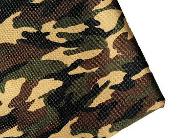 Fabric, Camouflage, Army, Canvas, Green, Brown, Black, supplies, strong, soldier, marine, camo, brave, smart, crafting, boy, men, ONE YARD