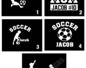 Personalized Soccer Car Decal, Soccer Mom, Soccer Dad, CUSTOM Order