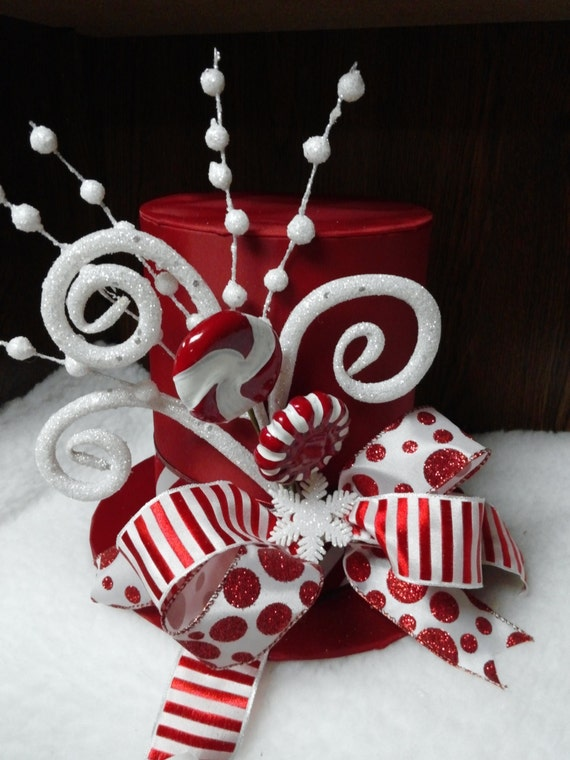 Peppermint Snowman Tree Topper Or Centerpiece
