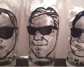 3pc, Custom PINT GLASSES, Groomsmen Invitation, Groomsmen Gift Ideas, Pub Glass, Caricature mug, Best Man Gift, Best Man Gift Idea