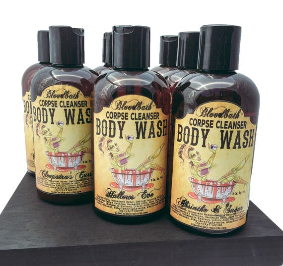 Hallows Eve Vegan Body Wash Corpse Cleanser Shower Gel Organic