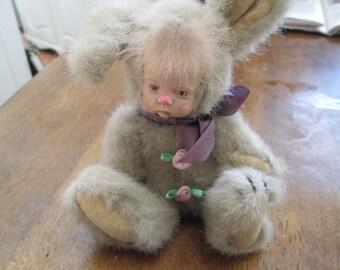 bunny doll porcelian head